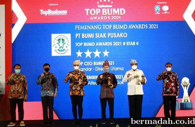 Jadi Lokomotif Ekonomi Daerah, PT BSP Raih Tiga Penghargaan Top BUMD Awards