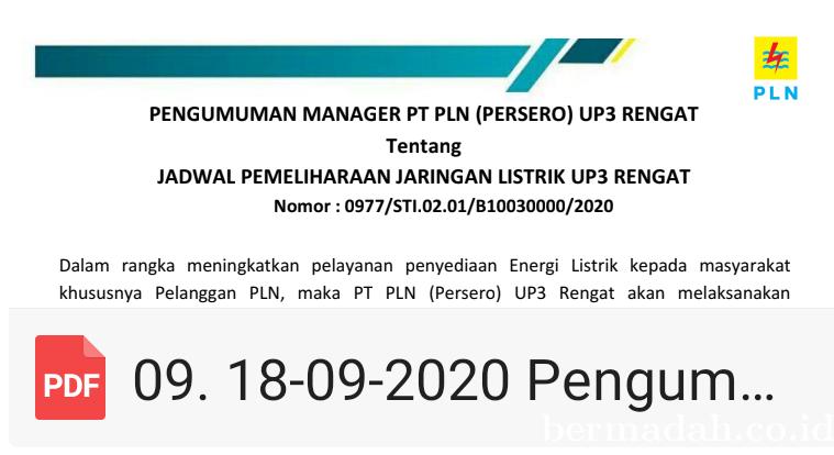 PLN UP3 Rengat Melakukan Pekerjaan Pemeliharaan Jaringan
